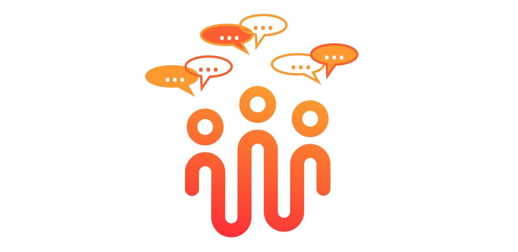 Logo HEROIC santé représentant des malades chroniques qui communiquent entre eux